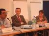 Angelo Berbotto (NELFA), Robert Biedron und Dr. Loveday Hudson (Universität Leiceister)