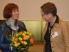 Caren Marks (Parlamentarischen Staatssekretärin im Bundesministerium für Familie, Senioren, Frauen und Jugend) und Uta Schwenke (LSVD-Bundesvorstand)