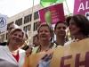 Cornelia Rundt (Sozialministerin Niedersachsen), Sylvia Löhrmann (stellvertretende Ministerpräsidentin des Landes Nordrhein-Westfalen), Jörg Steinert (LSVD Berlin-Brandenburg) und Malu Dreyer (Ministerpräsidentin Rheinland-Pfalz) (c) LSVD