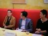 Uta Schwenke (LSVD-Bundesvorstand), Pascal Thibaut (Journalist) und Naana Lorbeer (Queer Amnesty) - Foto: Caro Kadatz / Hirschfeld-Eddy-Stiftung