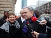 Renate Rampf (LSVD-Pressesprecherin) und Klaus Wowereit (SPD) - Foto: Caro Kadatz