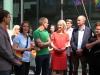 Jörg Steinert und Constanze Körner (LSVD Berlin-Brandenburg), Michael Korok (Papa in einer Regenbogenfamilie), Manuela Schwesig, Tobias Zimmermann und Elke Ferner (c) LSVD Berlin-Brandenburg