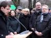 Ramona Pop (Vorsitzende der Fraktion Bündnis 90/Die Grünen im Abgeordnetenhaus von Berlin),  Claudia Roth (Bundesvorsitzende von Bündnis 90/Die Grünen, MdB), Jan Stöß (Vorsitzenden der Berliner SPD) und  Johannes Kahrs (SPD, MdB)  - Foto: Caro Kadatz