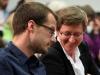 Markus Ulrich (Mitarbeiter LSVD) und Renate Rampf (LSVD-Pressesprecherin) - Foto: Caro Kadatz