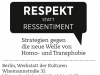 "Kongress ""Respekt statt Ressentiment"""