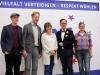 Markus Apel (Vorstand LSVD Bayern), Axel Hochrein (LSVD-Bundesvorstand), Hannah Lea (Vorstand LSVD Bayern), Helmut Metzner (LSVD-Bundesvorstand),