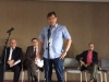Gordon Duguid (Charge D'Affairs US Embassy in Belgrade), Axel Dittmann (dt. Botschafter in Belgrad), Klaus Jetz (Hirschfeld-Eddy-Stiftung), Luis Abolafia (Gay and Lesbian Victory Institute) - Foto: Hirschfeld-Eddy-Stiftung