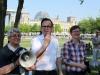 Kati Pirdawari (LSVD Landesvorstand Berlin-Brandenburg), Helmut Metzner (LSVD Bunesvorstand) und Renate Rampf (LSVD-Pressesprecherin) -- Foto: Caro Kadatz