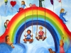 """Regenbogenfamilienseminar 2016 des LSVD Baden-Württemberg - Kunstwerke Kinderbetreuung """"Regenbogen-Kinder"""" © Milica Ivković"""