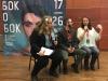 Cáel M. Keegan (m) und Ekaterina Messorosh (r) über Trans*Sichtbarkeit beim Q&A auf dem SideBySide-Filmfestival