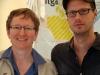 Renate Rampf und Markus Ulrich (LSVD-Bundespressestelle) - Foto: Caro Kadatz