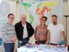 Helmut Metzner, Martin Pfarr, Eva Henkel (alle LSVD-Bundesvorstand) und Markus Ulrich ( LSVD Bund-Länder-Koordinator) - Foto: Caro Kadatz