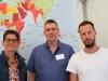 Eva Henkel, Günter Dworek (beide LSVD-Bundesvorstand) und Markus Ulrich ( LSVD Bund-Länder-Koordinator) - Foto: Caro Kadatz