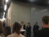 Begrüßung durch Sarah Kohrt (Hirschfeld-Eddy-Stiftung) sowie Antonie Nord (Heinrich Böll Stiftung) und Badr Baabou (Damj)