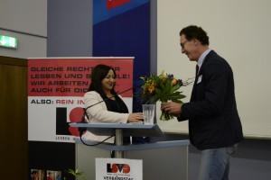 Dilek Kolat und Axel Hochrein (LSVD-Bundesvorstand) - Foto: Markus Ulrich / LSVD