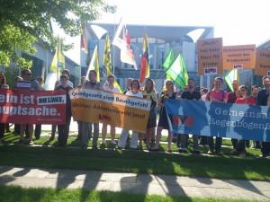 LSVD-Kundgebung vor dem Kanzleramt
