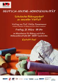 Veranstaltungsplakat: Deutsch-Mathe-Homosexualität