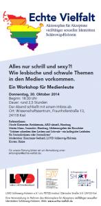 Flyer zum Workshop