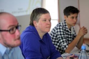 Gabriela Lünsmann (LSVD-Bundesvorstand und Moderatorin des Panels) (c) LSVD / Kadatz