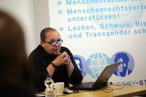 Tsepo Andreas Bollwinkel von der Initiative Schwarze Menschen in Deutschland - Foto: Caro Kadatz