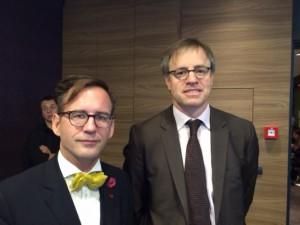Helmut Metzner (Hirschfeld-Eddy-Stiftung) und Axel Dittmann (dt. Botschafter in Belgrad) - Foto: Hirschfeld-Eddy-Stiftung