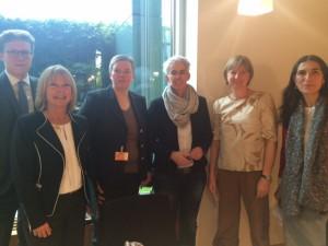 Nkklas Hofman (ADS), Christine Lüders (ADS), Gabriela Lünsmann (LSVD), Ulle Schauws (MdB), Karin Hugendubel (LGA) und Selmin Çalışkan (amnesty)