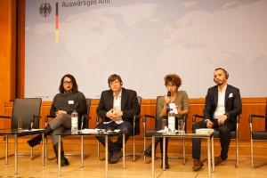 Dayana Kostantin, Klaus Jetz, Dalia Al Farghai und Babr Baabou (v.l.) (c) LSVD