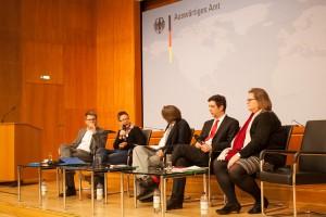 Tillmann Schneider, Uta Schwenke, Jens Wagner und Tim Hülquist und Andrea Kämpf (v.l.) (C) LSVD