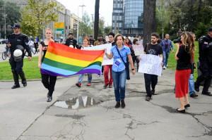 Demonstration in Belgrad - Foto: Ljiljana Bozovic (Labris)