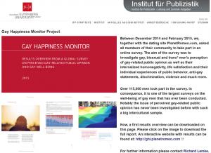 Gay Happiness Monitor