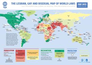 ILGA-Weltkarte zur Situation von LGBTI