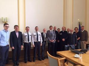 Teilnehmende des EGPA-Boardmeetings mit dem Berliner Polizeipräsidenten, Klaus Kandt (2.v.l.) (c) Marco Klingberg