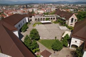 Blick vom Burgturm über Ljubljana