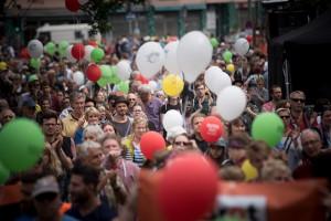 Hand in Hand gegen Rassismus - Kundgebung in Berlin (c) Campact
