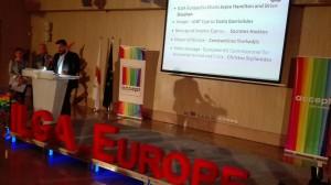 """ILGA-Europe Konferenz 2016 - Costa Gavrielides, Präsident von """"Accept – LGBT Cyprus"""" © LSVD-Bundesverband"""