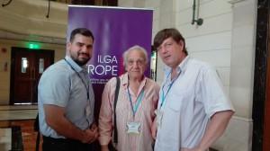 ILGA-Europe Konferenz 2016 - Costa Gavrielides und Alecos Modinos (Accept – LGBT Cyprus) mit Klaus Jetz (LSVD-Bundesverband) © LSVD-Bundesverband