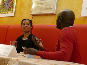 Olumide Popoola und Elnathan John, photo: Afrika-Haus Berlin
