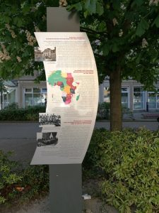 Photo: Plaque at the site of the 1884-85 Congo Conference in Berlin's Wilhelmstraße