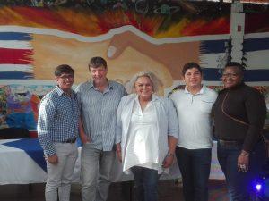 Klaus Jetz mit Natasha Jiménez (Mitte) und Aktivist_innen aus Nicaragua © LSVD Bundesverband