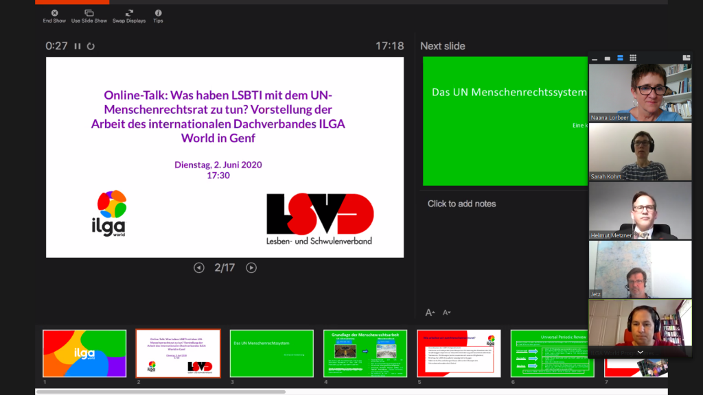 Screenshot: Vortrag