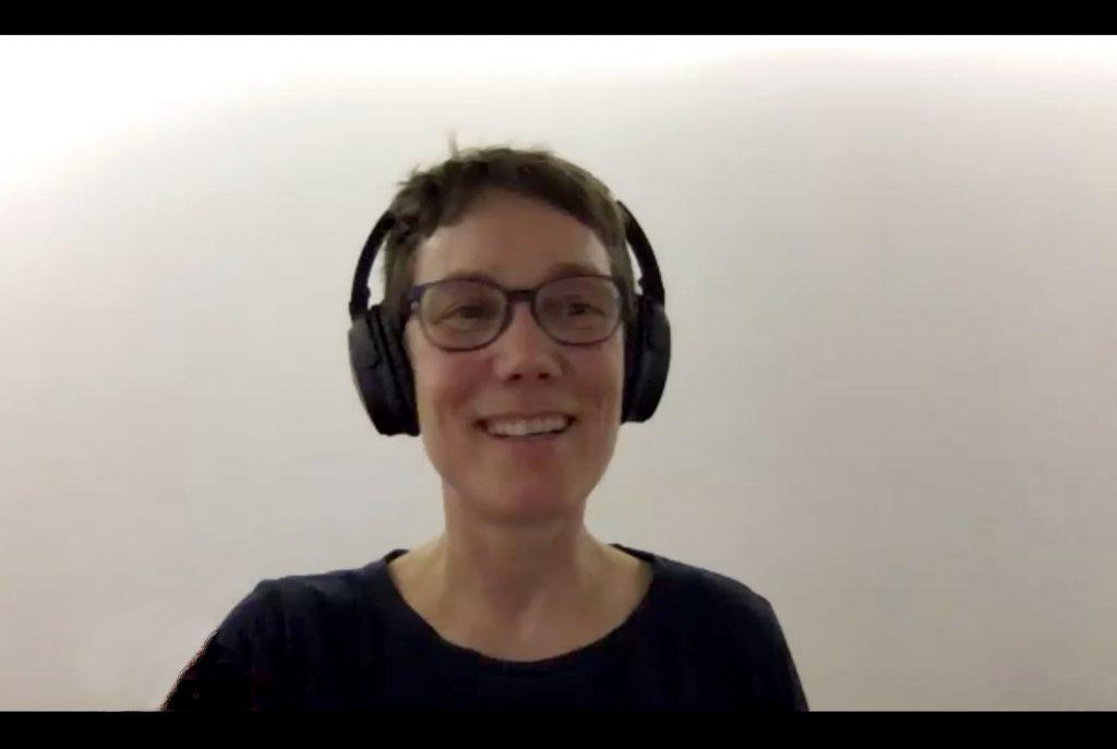 Moderatorin Sarah Kohrt