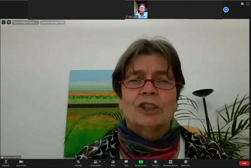 Cornelia Sperling, Webtalk Masakhane Projekt